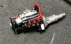 The engine detailing and wiring was completed.