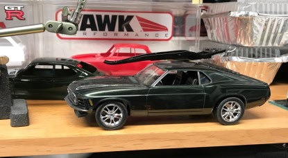 I stumbled upon a set of '11 mustang GT wheels in my parts box. I bought them at a swap meet and forgot about them. I thought I was try them out on my '70 boss. Maybe? I decided to use them on my '70 Torino build.
