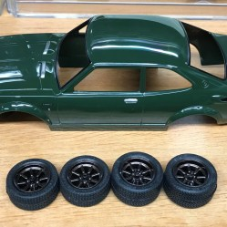 The new Watanabe wheels were painted and detailed for the Toyota.