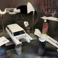 I finished prepping the body for the Chevelle and primed all of the parts. The 40 Ford slipped in for primer to check the body work.