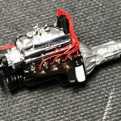 Engine wiring in progress