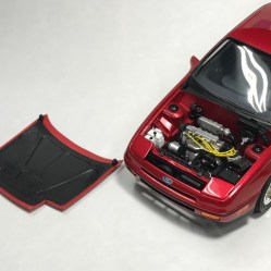 The engine bay had nice details including correct turbo piping.