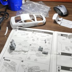 I decided to get moving on the Mustang build. I started by reviewing the instructions and going through all of the parts.