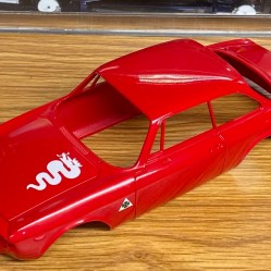 The body was sanded and polished after clear. It was ready for foil.