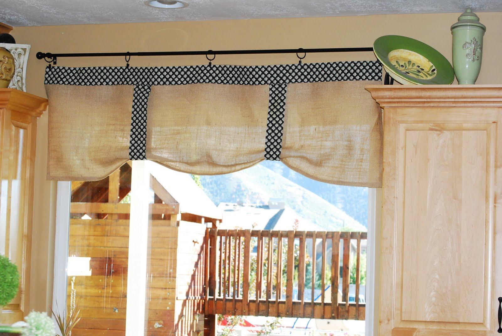 Creative Fridays Burlap No Sew Kitchen Curtains