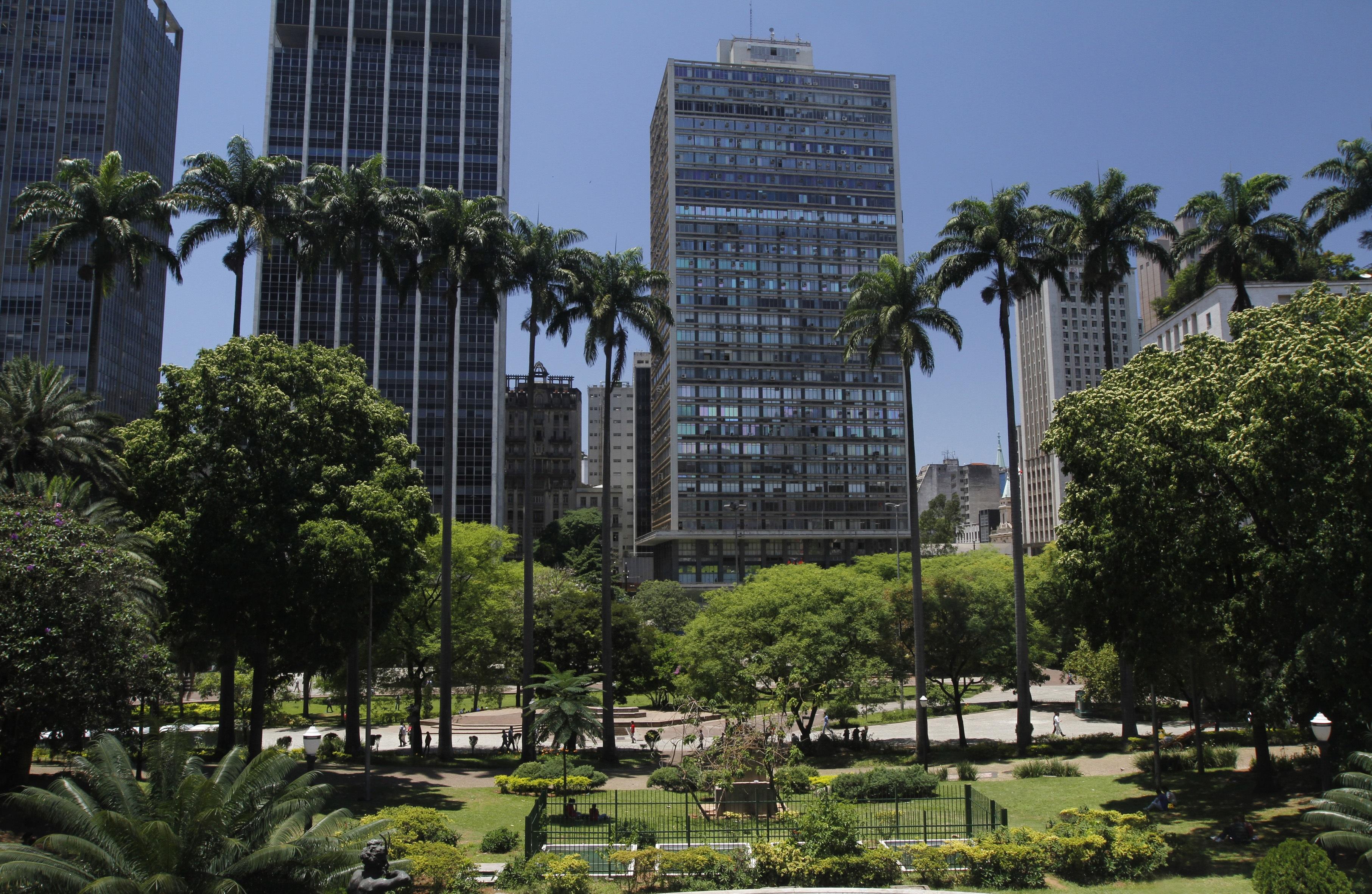Região do Anhangabaú, no Centro da cidade. Foto: José Cordeiro/SPTuris.