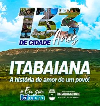 ITABAIANA- ANIVERSARIO – 23 AGOSTO A 21 SETEMBRO – 2021