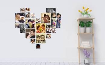 Vinilo decorativo collage de corazón