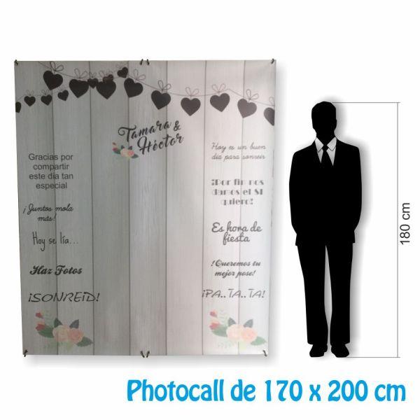 photocall barato 170x200 medida