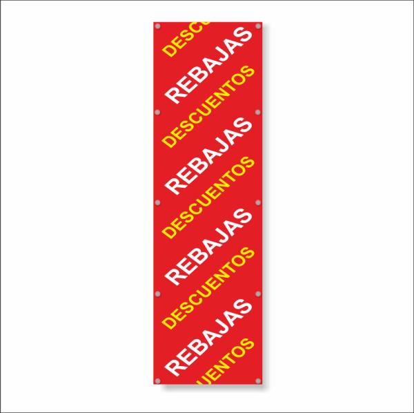 cartel para rebajas y descuentos con ventosas