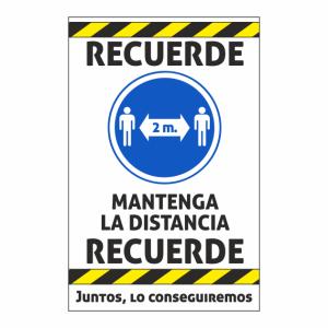 cartel coronavirus distancia