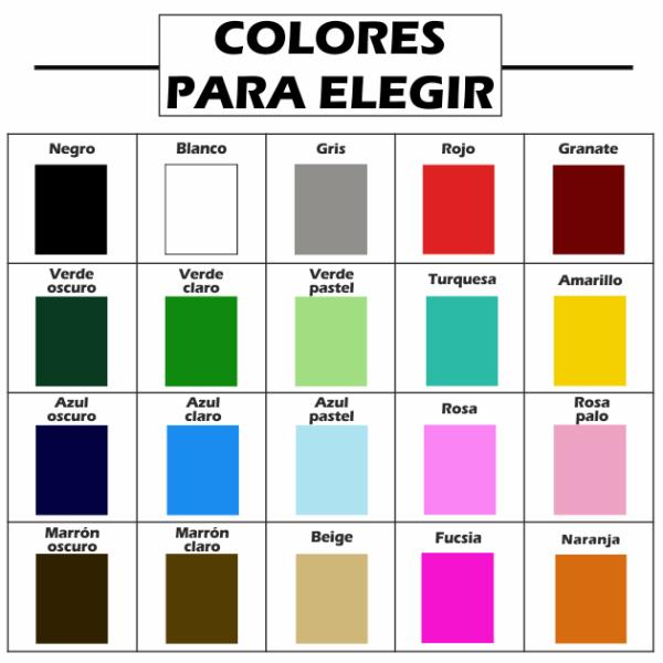 colores para personalizar carteles