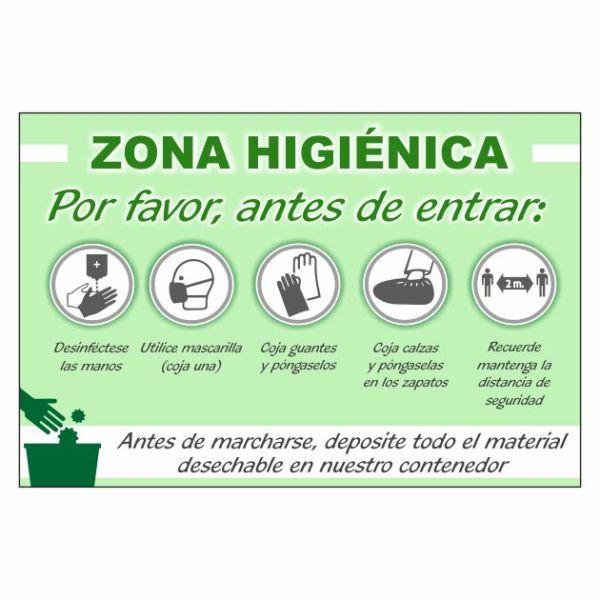 cartel zona higienica