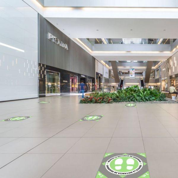 vinilo de suelo distancia para centros comerciales