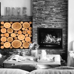 vinilo troncos de madera