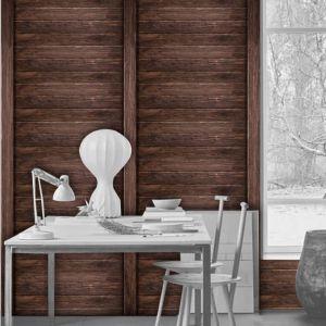 vinilo pared madera oscura