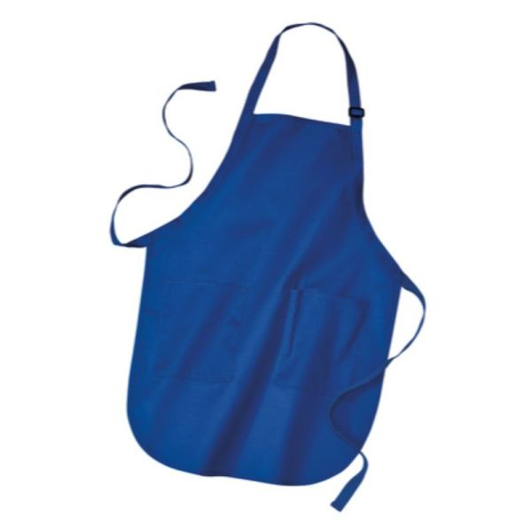 Royal blue apron with pockets