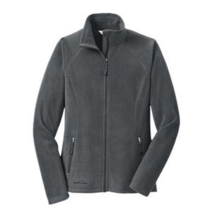 Ladies Full-Zip Microfleece Jacket, grey