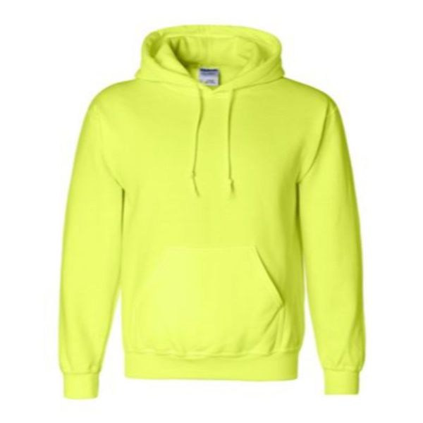 Hooded Sweatshirt, Safety Green
