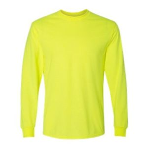 Long Sleeve Tee, Safety Green