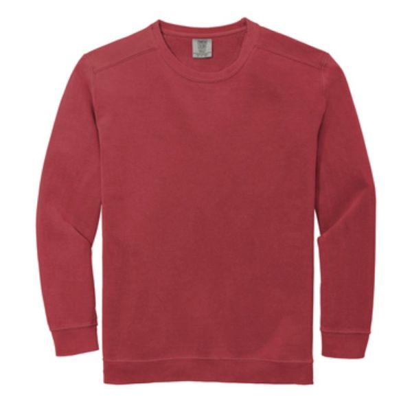Comfort Colors Ring Spun Crewneck Sweatshirt, Crimson