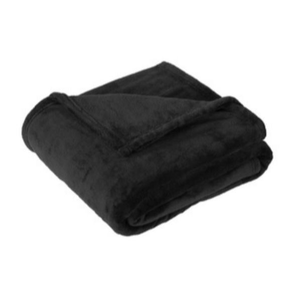 Polyester Fleece Blanket, Black