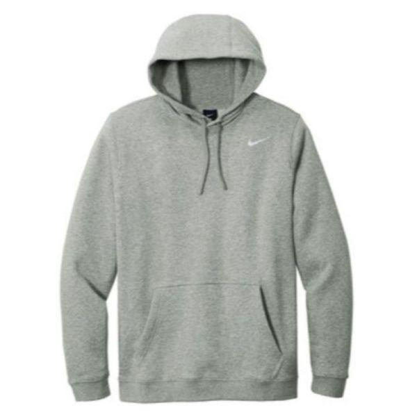 Nike Club Fleece Pullover Hoodie, Dark Grey Heather