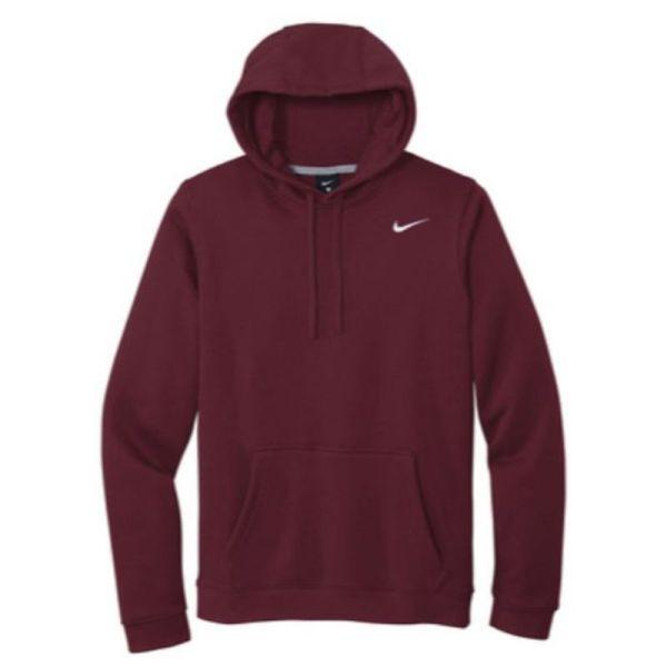 Nike Club Fleece Pullover Hoodie, Maroon