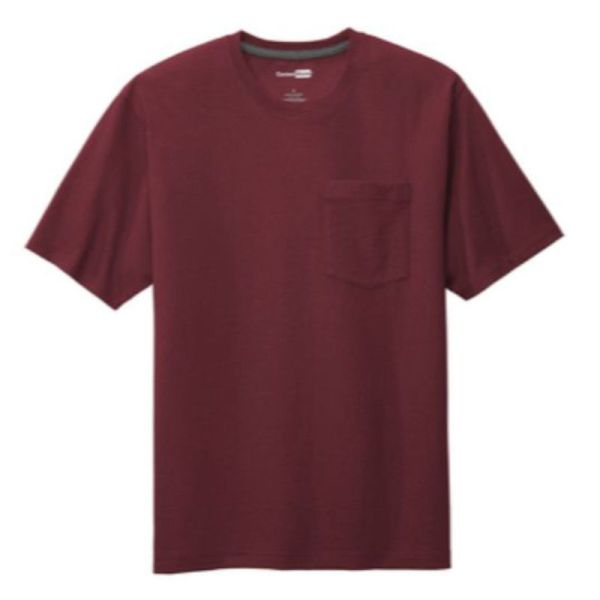Workwear Pocket Tee, Maroon