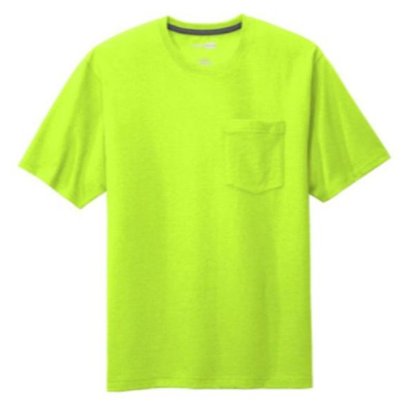 Workwear Pocket Tee, Safety Green