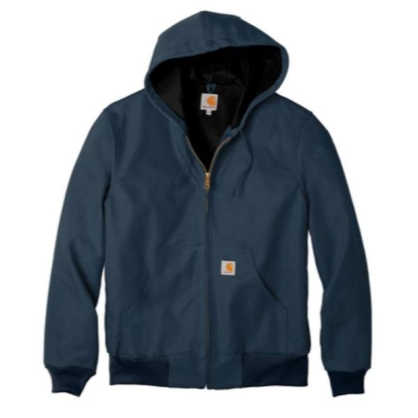 Hooded insulated duck jacket, Navy