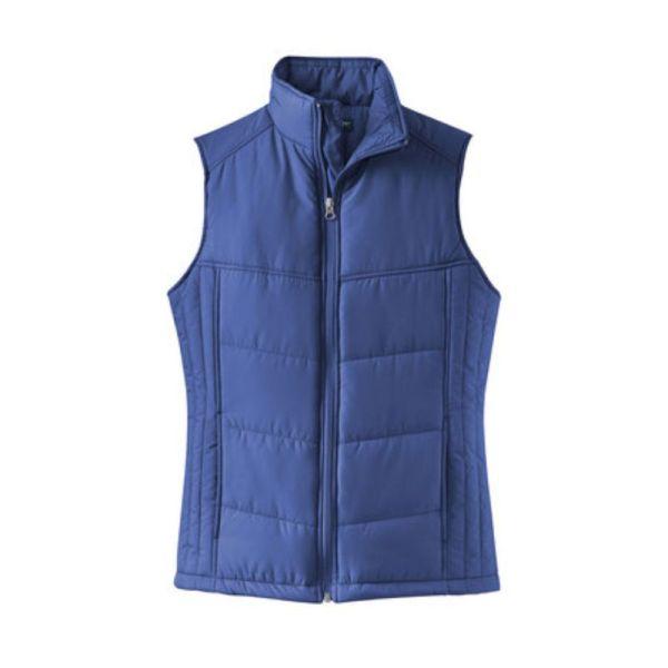 ladies vest, blue