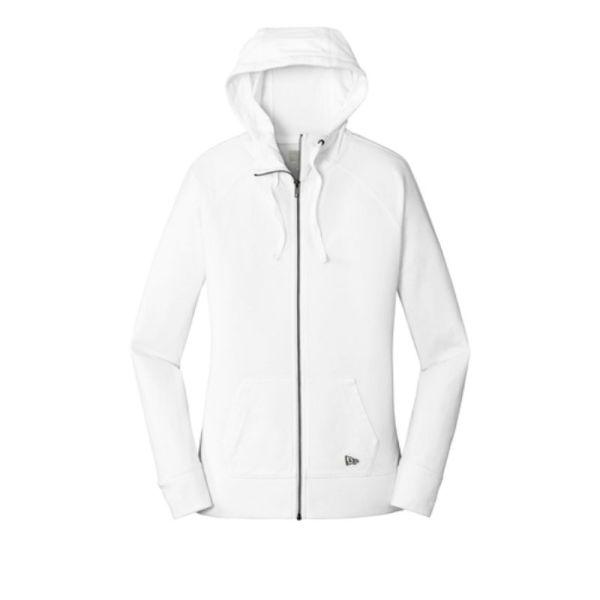 ladies zip hoodie, white