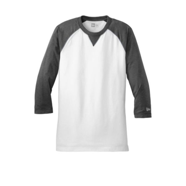 NEA121 Baseball Tee Black White