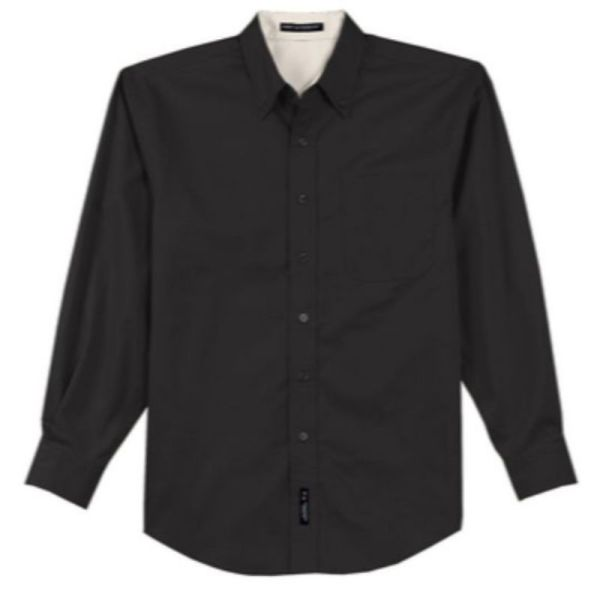 S608 Twill Dress Shirt Black