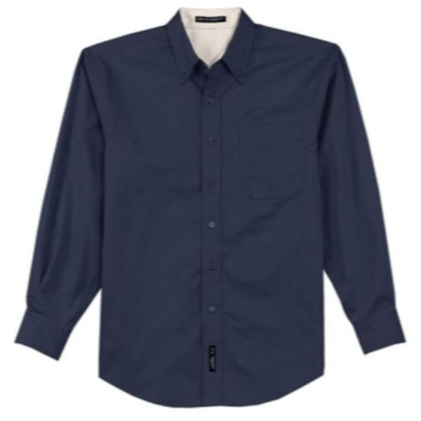 S608 Twill Dress Shirt Navy