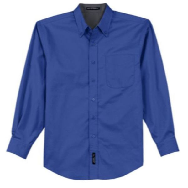 S608 Twill Dress Shirt Royal