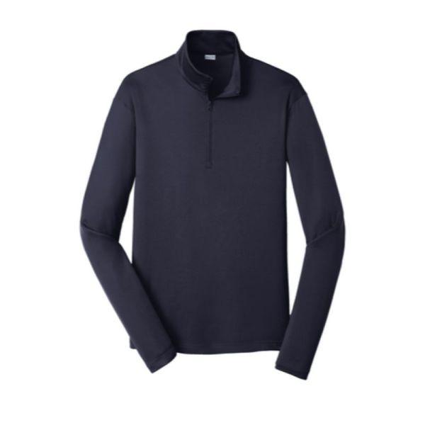 Quarter zip pullover sweatshirt, navy blue