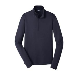 Quarter zip pullover sweatshirt, navy blue