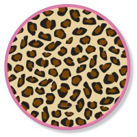 """Quick View - Z11654 - """"Leopard Pink Dinner Plate"""""""