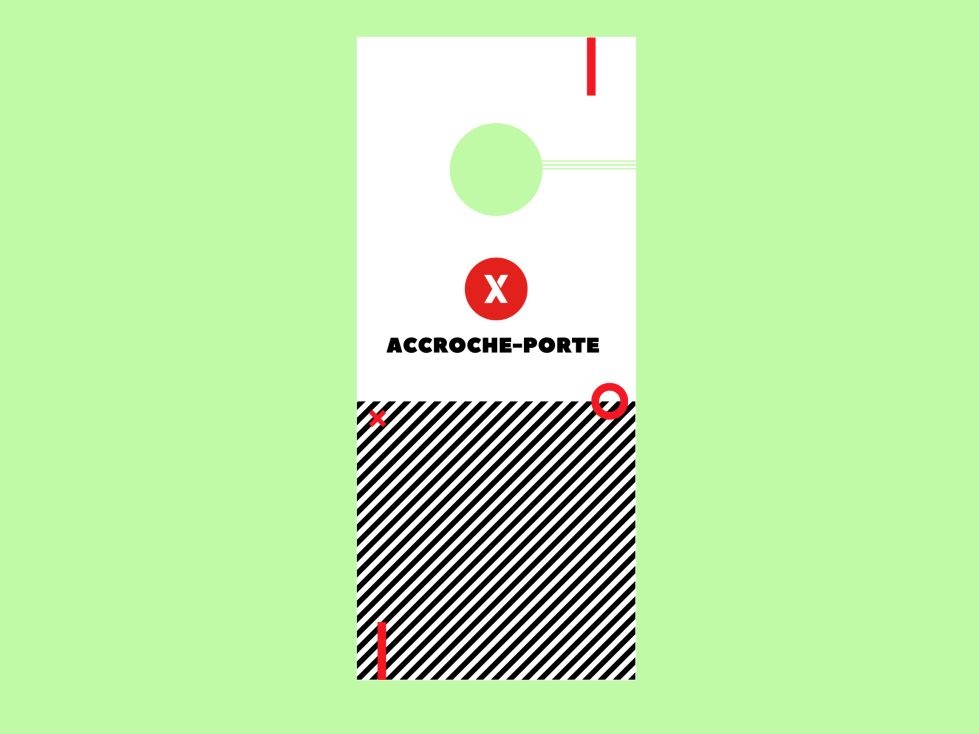Accroche-porte carton recyclé impression montreal_laval_Québec