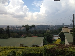 towards Nakasero with Hilton on skyline right