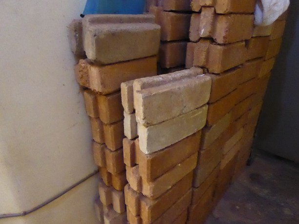 finished straight bricks