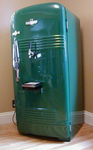 Gerald Oskoboiny Photos of Tristens beer fridge
