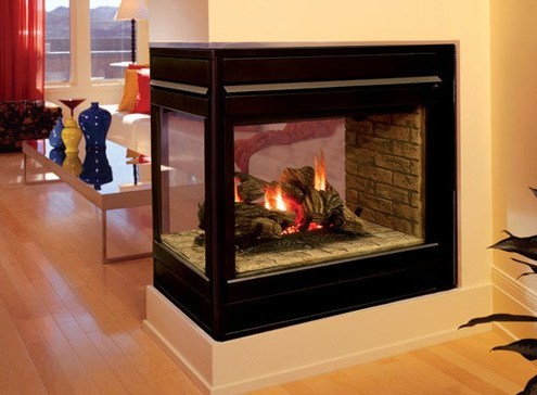Elite Peninsula 3 Sided Fireplace