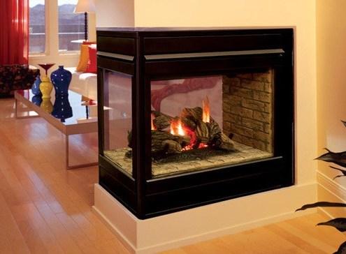 Elite Peninsula 3 Sided Fireplace
