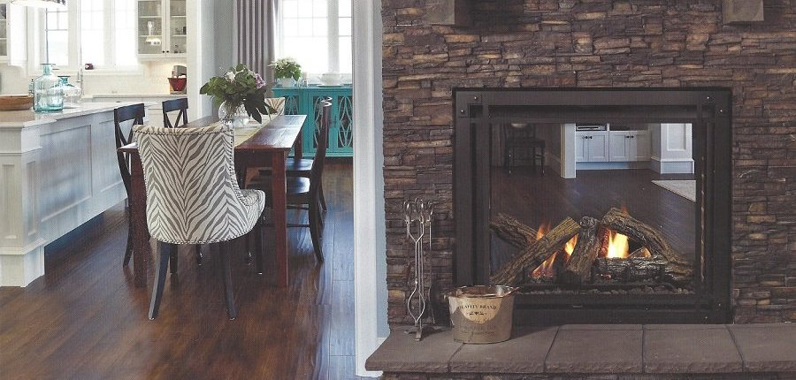 Bentley 2 Sided Fireplace