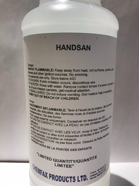 Hand Sanizer 1 Litre Canada