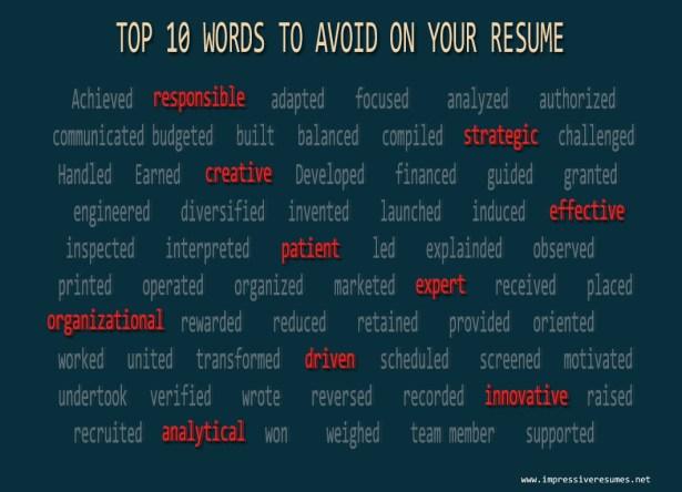 resume buzzwords to avoid