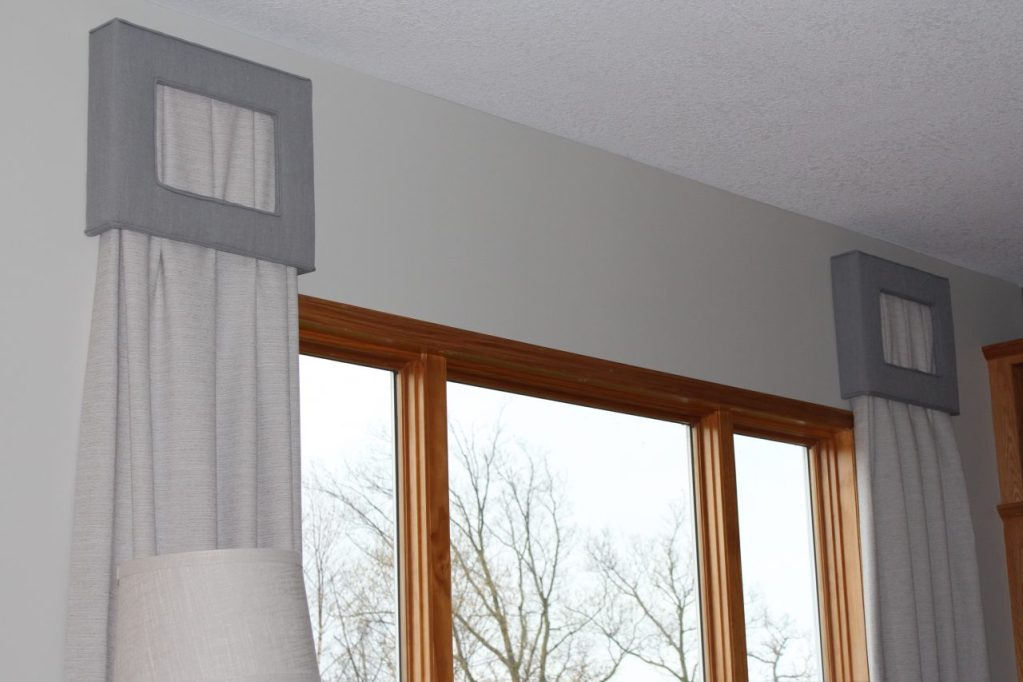 portfolio- cornices- draperies- peek a boo- living room- hastings- minnesota